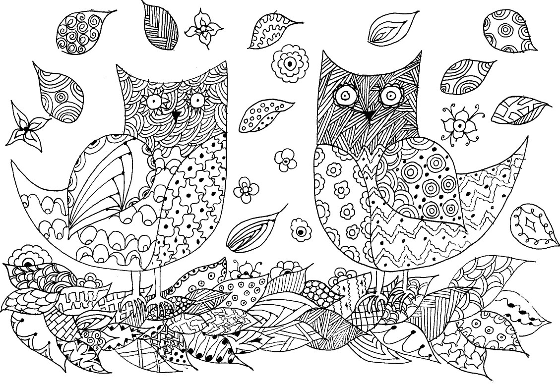 Owls Zentangle