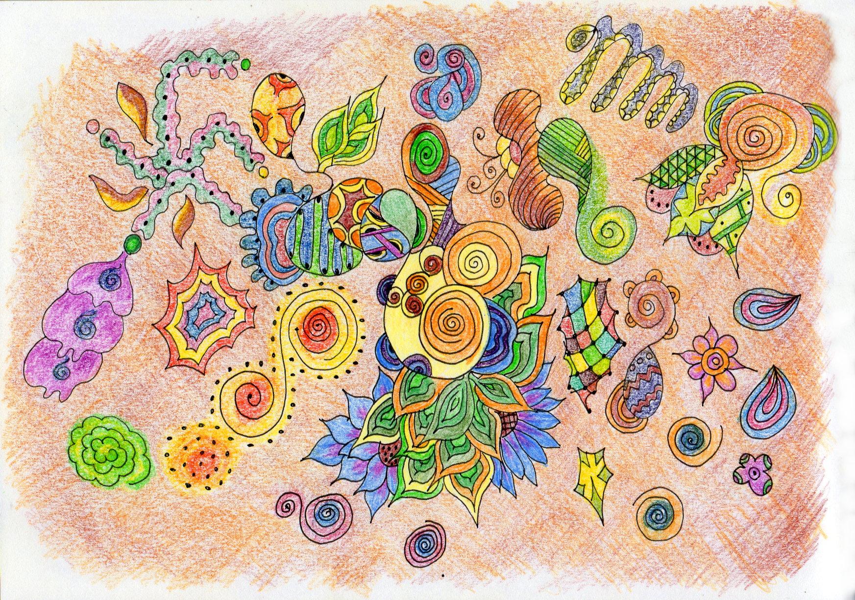 Zen doodle colour - Zendoodle1