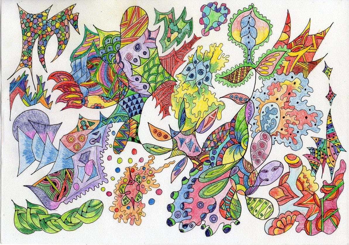 Zen doodle colour - Zendoodle